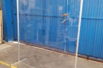Mamparas protectoras de PVC flexible que ayudan a reducir las posibilidades de contagio del Covid-19.